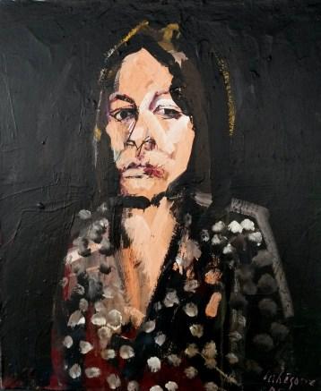 Portrait de femme_Serge Labégorre 2005_65x54 cm 15F acrylique sur toile