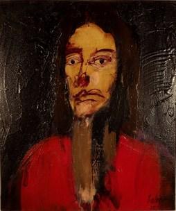 Portrait de jeune femme, Serge Labégorre 2010 _ 55x46 cm 10 F acrylique sur toile