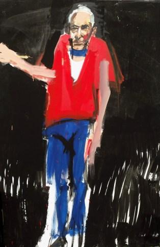 Quand j'etais vieux, Serge Labégorre 2014, 195x130 cm 120F acrylique sur toile
