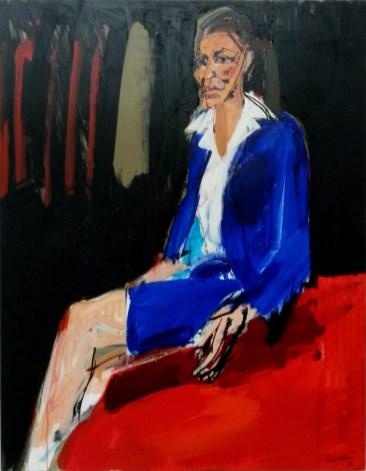 Rosy étudiante, Serge Labégorre 2017 _ 146x114 cm 80F acrylique sur toile