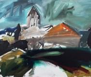Village de France Saint Jean de Blaignac_Serge Labégorre 2015_60x73 cm 20Facrylique sur toile