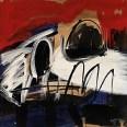 CRANE TRICOLORE, Serge Labégorre 2012, 100x100 cm 50 at#01