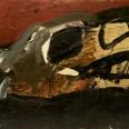 Crâne, Labegorre 1990, 38x55 cm acrylique bois #04 B