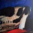 Crâne de boeuf, Serge Labégorre 2013, 100 x 100 cm at #04