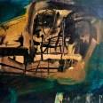 Crâne vert, Serge Labégorre 2006, 54x65 cm 15F at#02