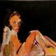 Etude nu feminin, Labegorre 2006_38x55 cm 10P_acrylique sur toile