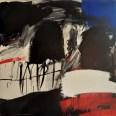 Grand crâne à la fenêtre bleue, Serge Labégorre 2011, 100 x 100 cm at#02