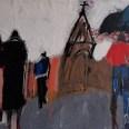 Les pélerins du crépuscule, Serge Labégorre 2018, 58 x 84 cm 25 at#02