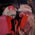 Nu frontal rouge sur fond noir, Serge Labégorre 2007, 130 x 97 cm 60 at#02