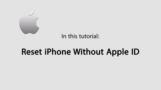 Wie kann ich mein iPhone zurücksetzen ohne Apple ID ?