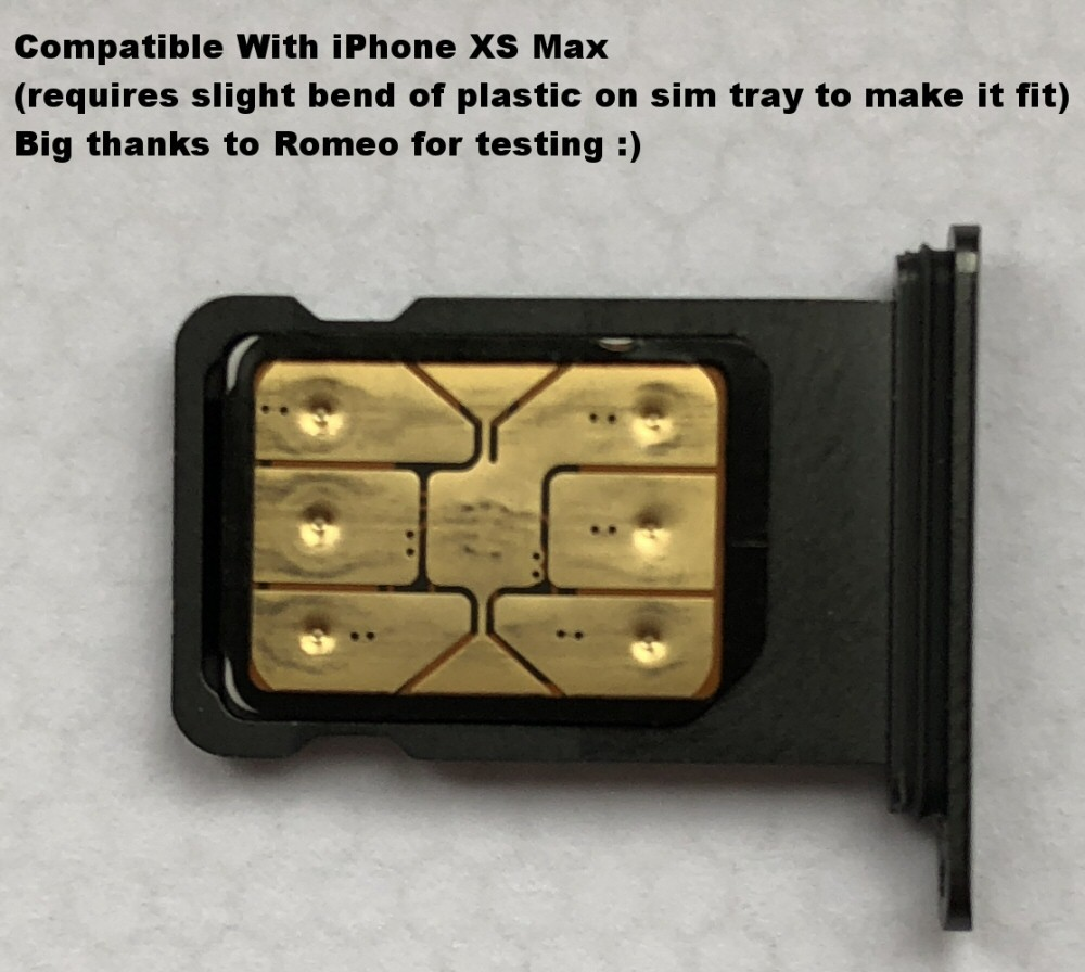 hight resolution of  iphone unlock sim will work with the new iphone xs max romeo had to bend slightly the plastic of the sim tray to get it seated but it worked great
