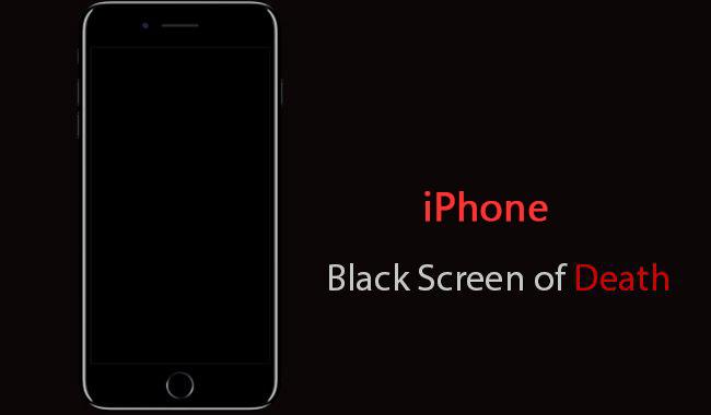comment reparer l ecran noir sur iphone