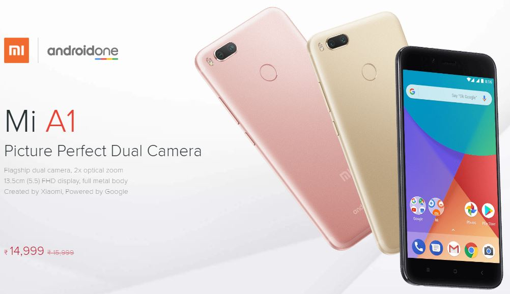 Xiaomi Launched Mi A1- Android One | Specification and details