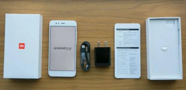 Xiaomi Mi A1 inside box