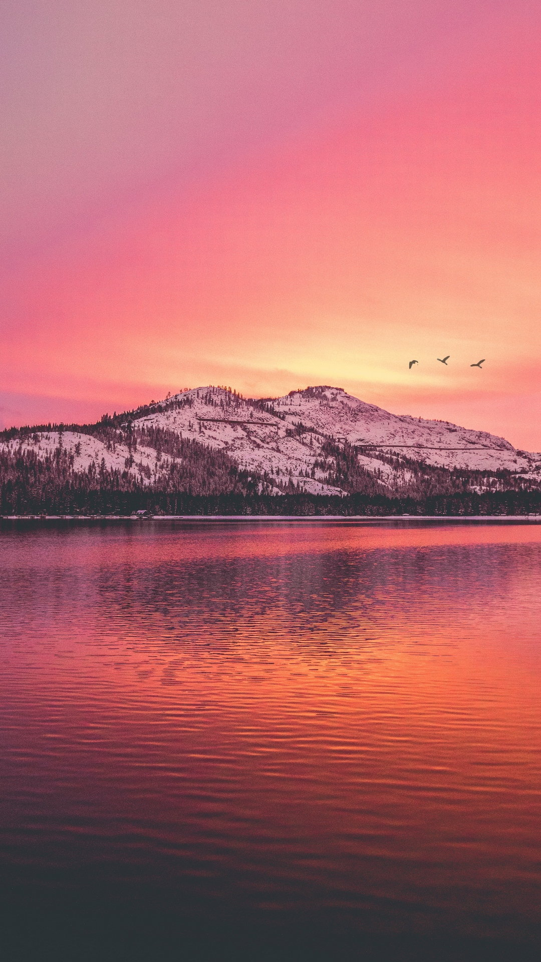 Free photo 'mountain lake sunset' for use in both your personal and commercial projects. Mountains Lake Sunset Wallpaper 1080x1920