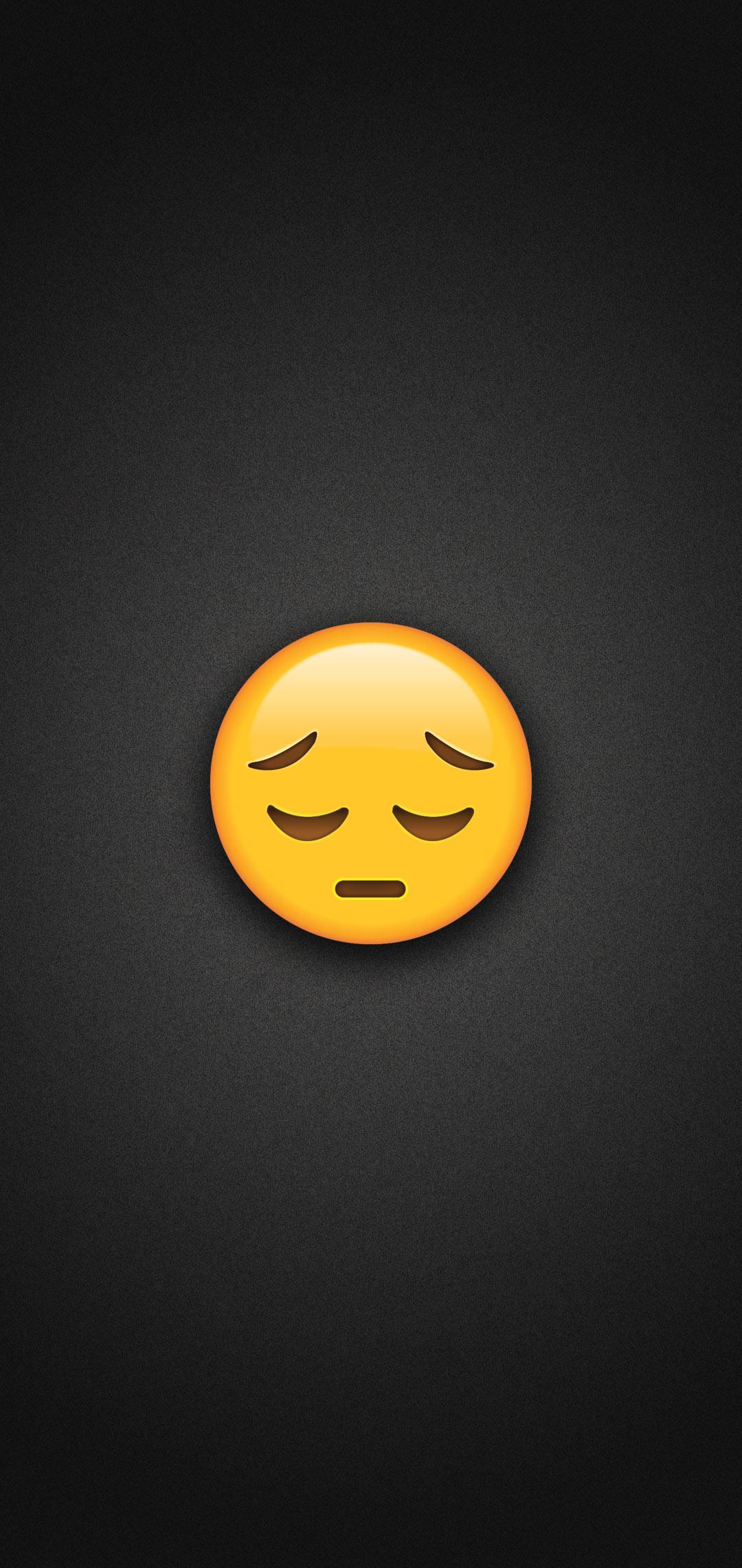 sad face emoji phone