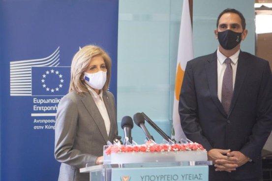 """Ο Υπουργός μίλησε για τον """"σταθμό ημέρας"""".  Εμβόλια που λαμβάνουν υγεία στο St.  Kyriakidun στην Κύπρο"""