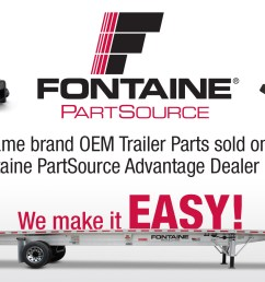 fontaine part source fontaine trailer flat bed trailers drailer drops aluminum trailers composit trailers steel trailers revolution trailers [ 3652 x 1000 Pixel ]