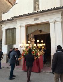 La Junta de Fàbrica trau la imatge de sant Antoni per a la processó