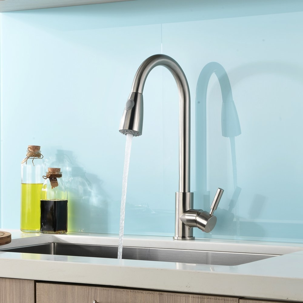 kitchen sink faucet prices concordia brushed nickel single handle with our is a modern and practical fixture classic finish an easy to use pull down sprayer