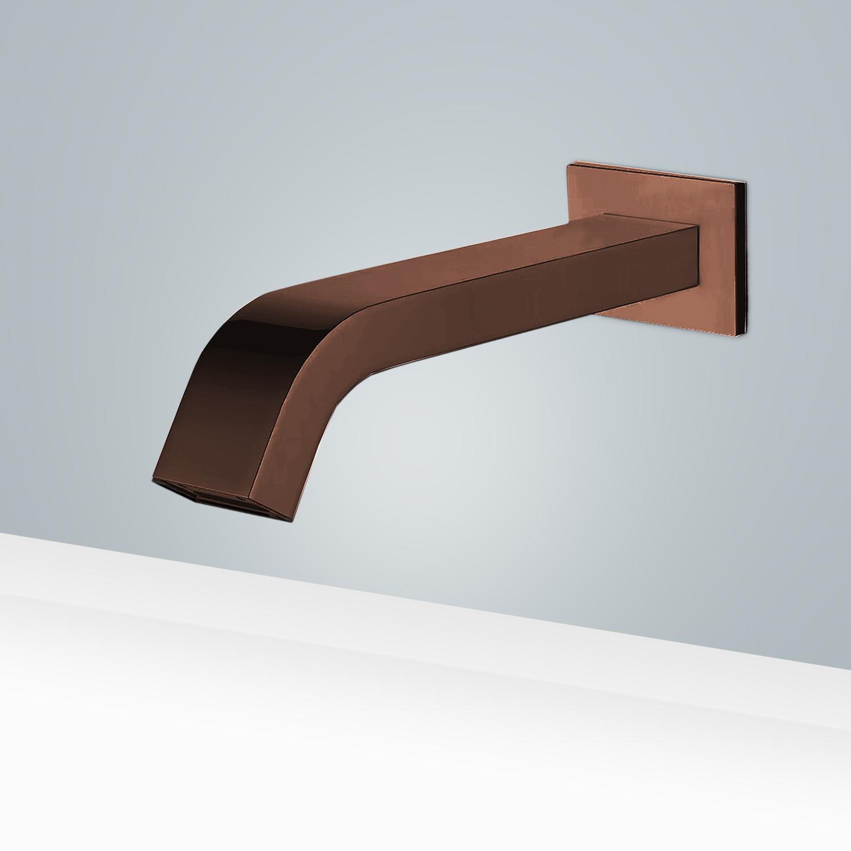 fontana commercial automatic wall mount light oil rubbed bronze sensor bathroom faucet