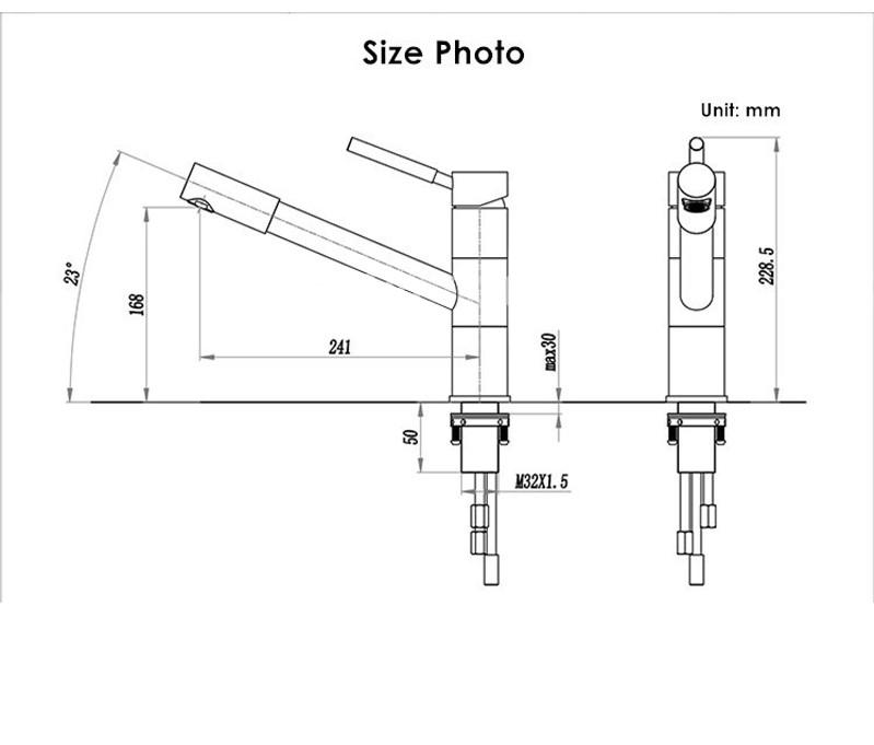 imola longreach single handle chrome kitchen faucet