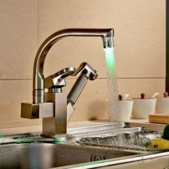 Led Kitchen Faucet Degreaser Lucca Brushed Nickel Single Handle Material Brass