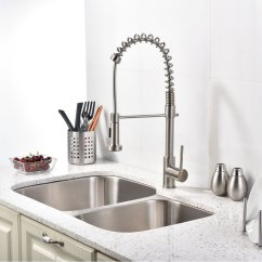 Kitchen Sink Faucet Sets For Little Girls Brushed Nickel With Pull Down Sprayer Quilmes Is A Modern Which Provides All The Functions Needed Comfortable Washing Experience It Has Two