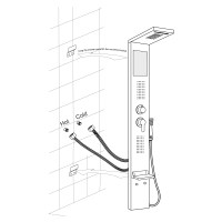 Fontana Ermanno Full Body Shower Massage Panel with Rain ...