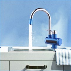 Instant Water Heater Kitchen Sink Glass Door Cabinets Sidon Faucet With Tankless Tank Less