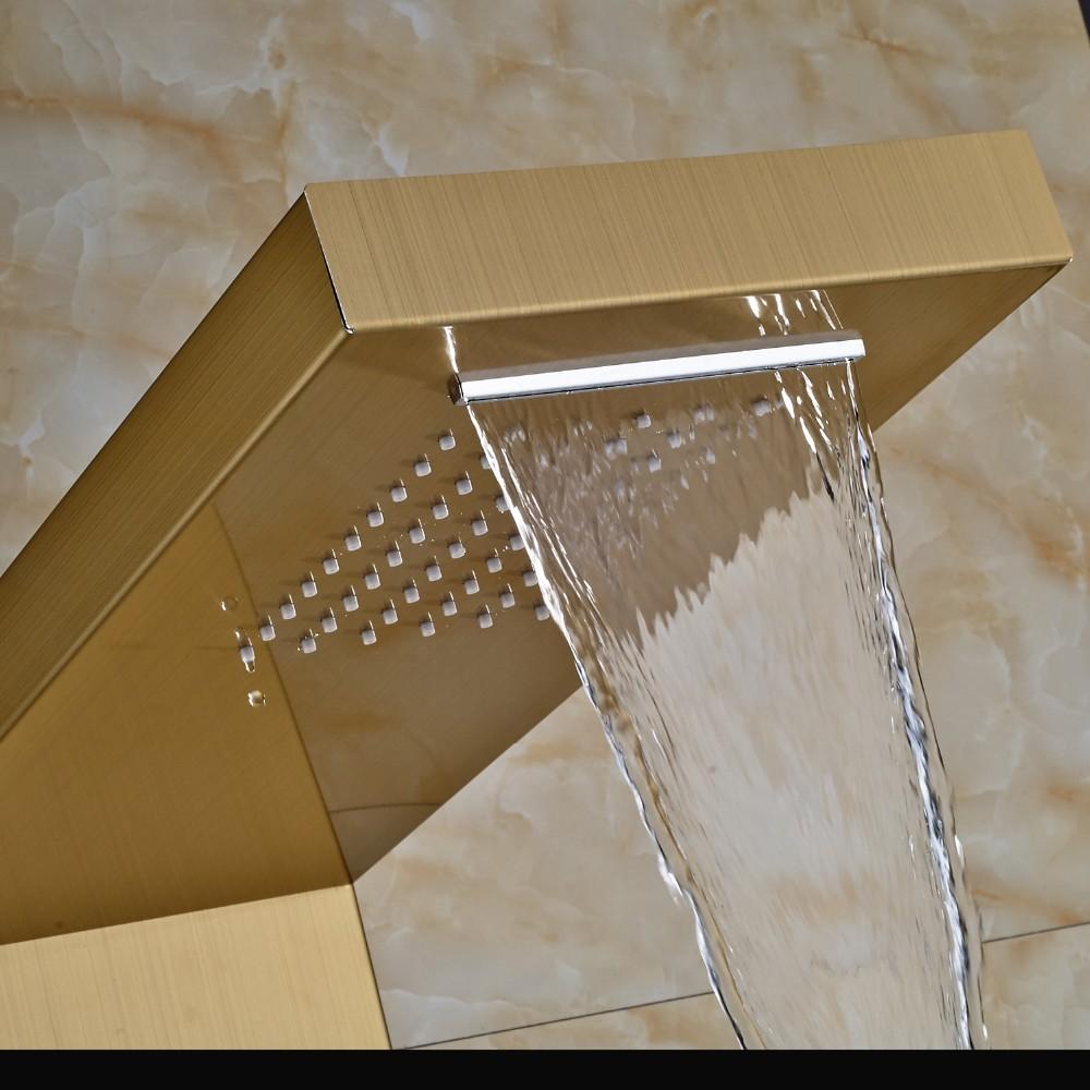 Lenox Digital Display Shower Panel Column With RainFall