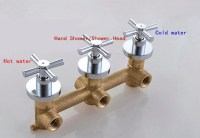 3-Handles 2-way Bathroom Shower Valve In-wall Mixer Valve ...