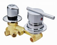 Copper shower mixing valve 2/3/4/5 way water outlet cold ...