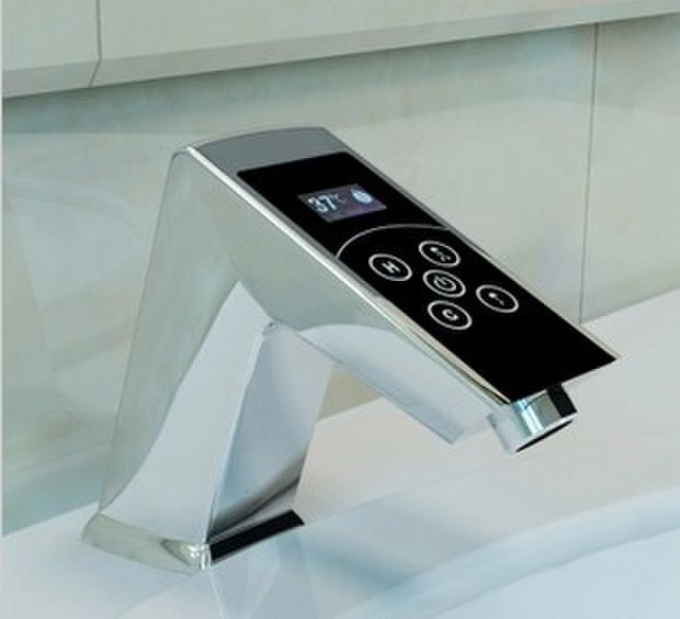 cutting edge electronic digital touch faucet smart sink mixer bathroom faucet with sensor