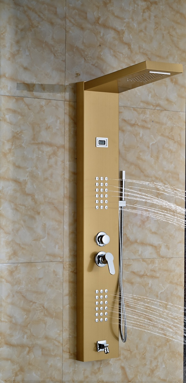 Lenox Digital Display Shower Panel Column With RainFall