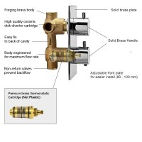 Shower Mixer Thermostatic Valve