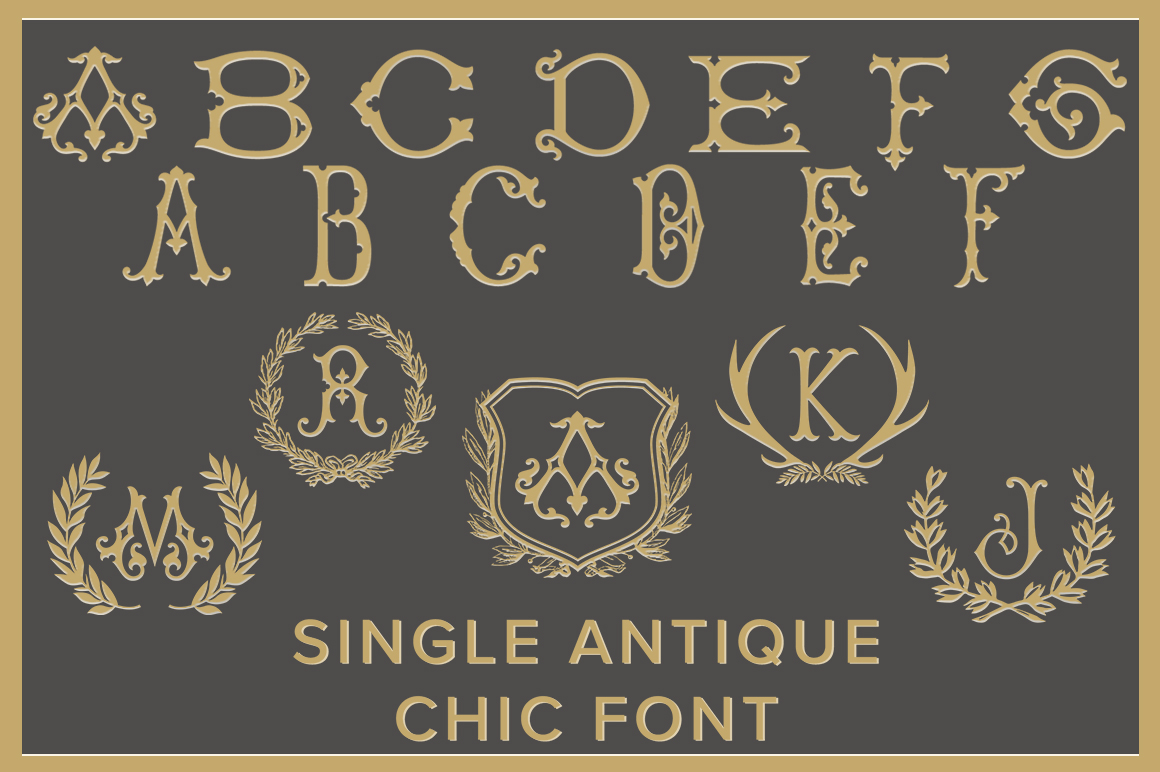 Single Antique Chic Font Family by Shuler Studio  Font Bros