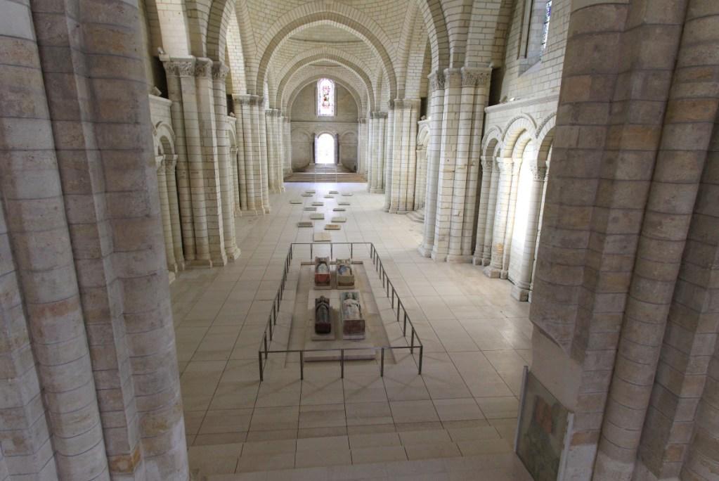 Vue sur les gisants des Plantagenêt