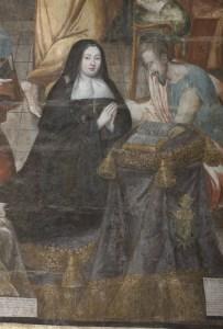 Portait de Gabrielel de Rochechouart dans la salle capitulaire de Fontevraud