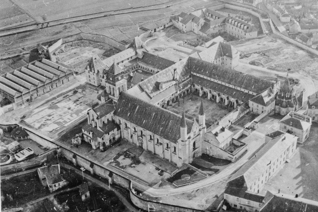 Prison de Fontevraud en 1963 - Vue cavalière