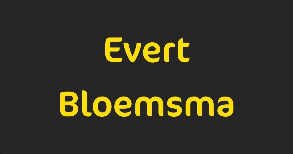 FontShop  Evert Bloemsma
