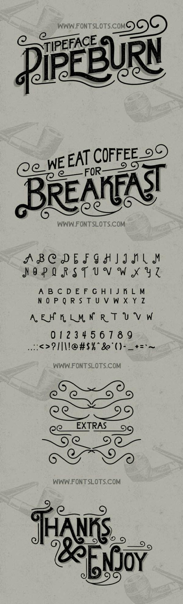 Pipeburn Typeface 01
