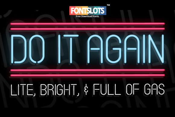 Do It Again Font