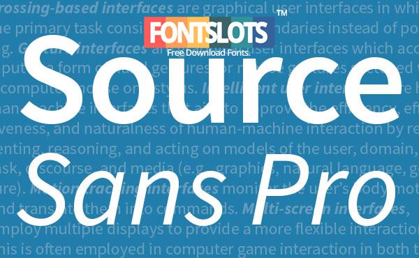 Source code pro Font