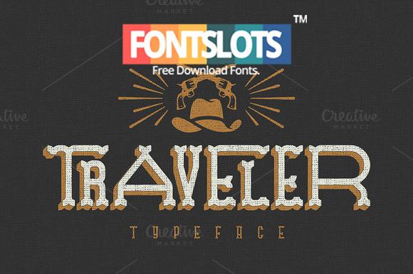 Traveller Typeface Font