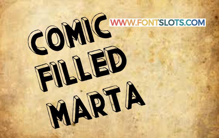 Comic Filled Marta Font