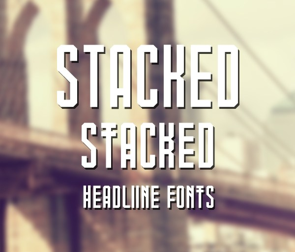 Stacked Font