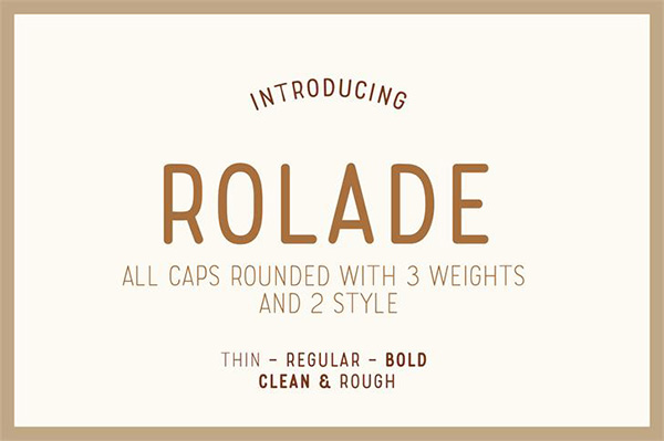 Rolade Typeface Font