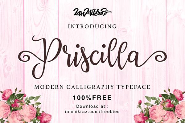 Priscilla Script Font
