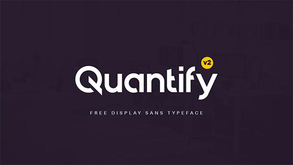 Quantify v2 Typeface Font